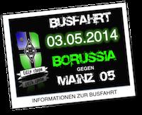 Busfahrt 3. Mai: Borussia Mönchengladbach gg. Mainz 05