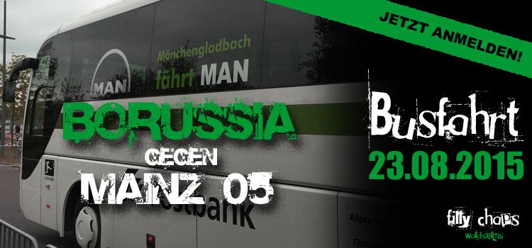 Jetzt anmelden: Busfahrt am 23.08. gegen Mainz 05