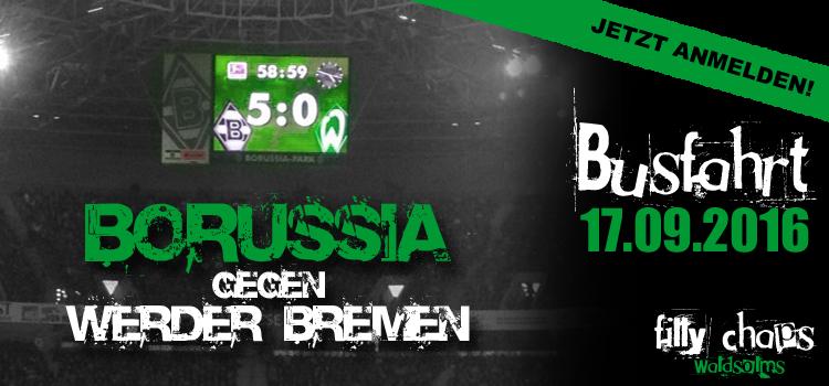 Fanclub Busfahrt zum Spiel Borussia Mönchengladbach gegen Werder Bremen