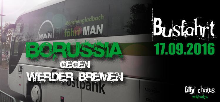 Weitere Infos: Busfahrt gegen Werder Bremen am 17.09.
