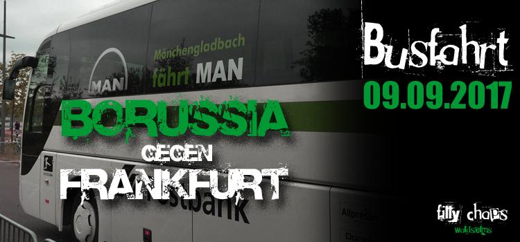 Jetzt anmelden! Busfahrt gg. Eintracht Frankfurt am 9. September 2017
