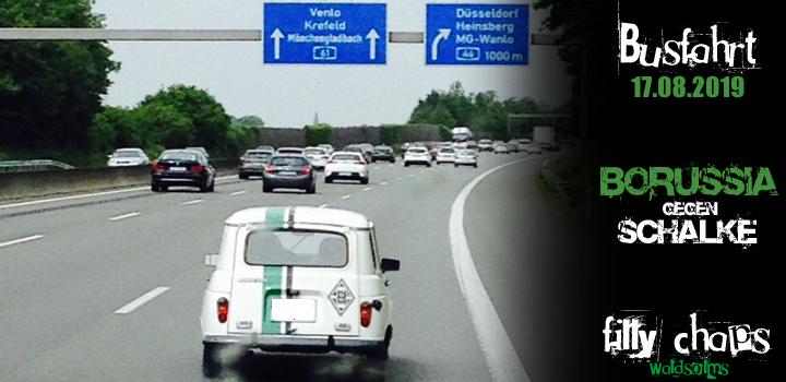 Busfahrt - Borussia Mönchengladbach gegen Schalke
